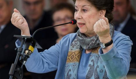 L'exconsellera d'Hisenda Magdalena Álvarez.