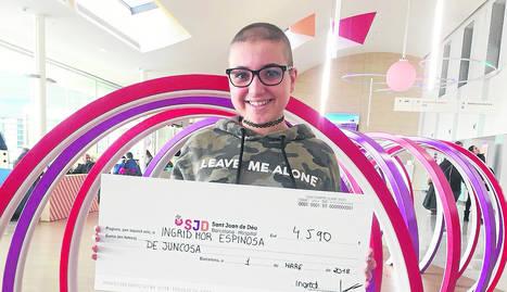 Ingrid Mor va organitzar una jornada solidària en contra del càncer.
