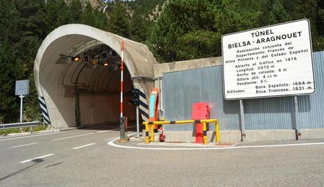 Imatge d'arxiu del túnel de Bielsa, lloc pròxim on va tenir lloc l'allau.