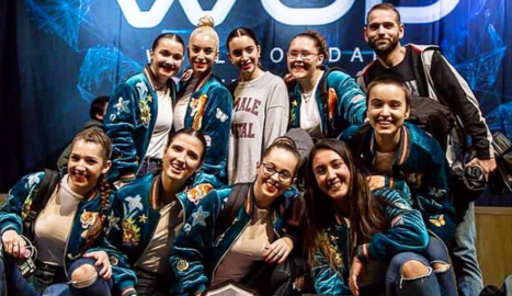Celebració de la tercera posició al World of the Dance.