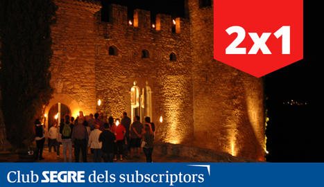 Entrada al Castell de Montsonís durant una visita teatralitzada.