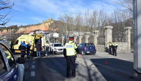 Imatge presa ahir poc després de l'accident.
