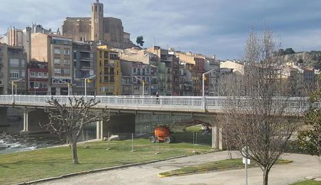 Les obres al pont Nou de Balaguer van començar ahir.