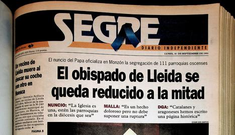 Divorci al bisbat de Lleida
