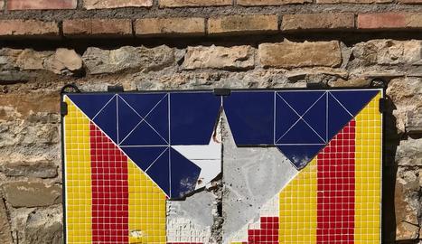 Les destrosses al mosaic de l'estelada a la Pobla de Segur.