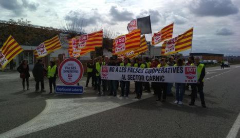 Protesta d'UGT contra les