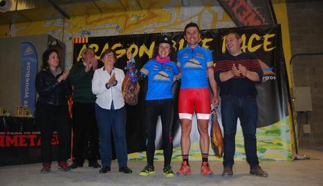 Ramona Gabriel i Diego Tamayo, premiats a l'Aragó Bike Race.