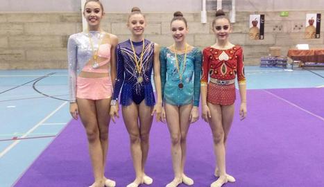 Cinc medalles del Sícoris en rítmica
