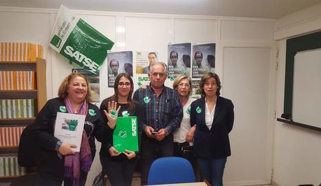 Membres del Sindicat d'Infermeria Satse de Lleida.