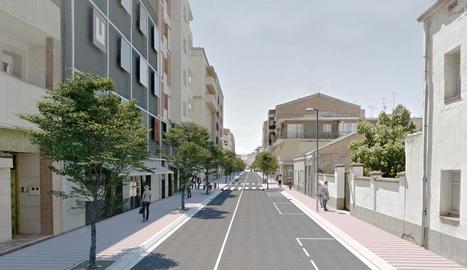 Imatge virtual de la nova avinguda Catalunya de Mollerussa.