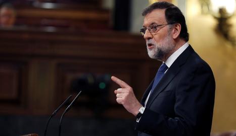 Rajoy durant el seu discurs al ple del Congrés.