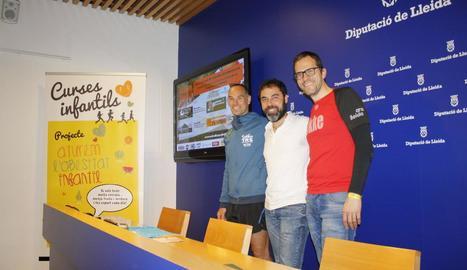 Kike Borrás, Francesc Sabanés i Joan David Porté.