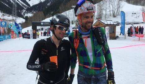 Killian Jornet i Jakob Hermann, guanyadors de l'etapa d'ahir a la mítica Pierra Menta.