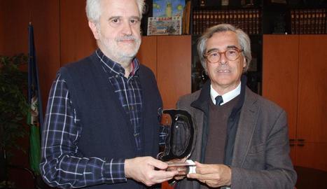 L'alcalde del Vendrell i el director de la Fundació Fenosa.
