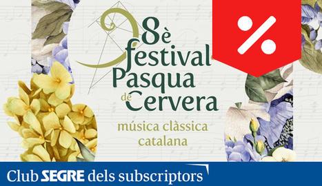 El cartell de la 8a edició del Festival de Pasqua de Cervera.