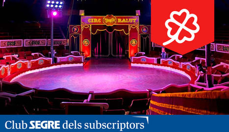 L'interior de la gran carpa de l'històric Circ Raluy.