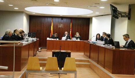 Imatge de la primera sessió del judici celebrat aquesta setmana a l'Audiència provincial de Lleida.