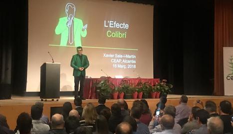 Un moment de la participació del conegut economista Sala i Martín.