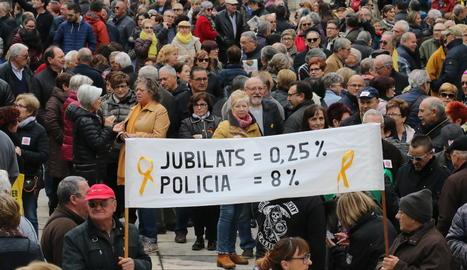 Protesta de la Marea Pensionista en Lleida