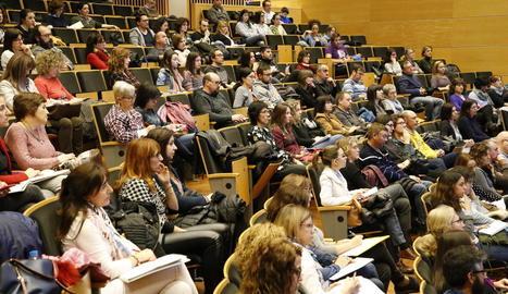 La conferència va tenir lloc a l'auditori de la UdL, a Cappont.