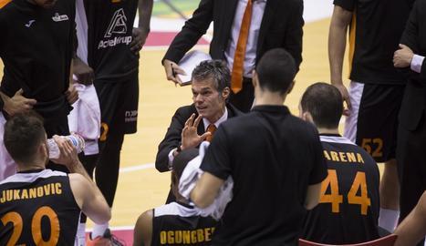 Borja Comenge, a l'últim partit amb l'Actel a Valladolid.