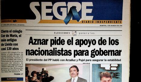 Aznar fa fora els socialistes vint-i-quatre anys després