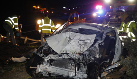 Estat en el qual va quedar el cotxe de la víctima mortal