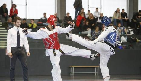 La prova de taekwondo es va disputar al pavelló Juanjo Garra.