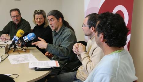 La roda de premsa del Comú de Lleida