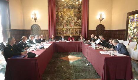 Reunió de la Junta Local de Seguretat ahir a la Paeria.