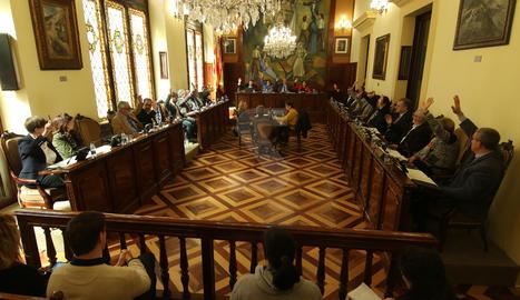 El ple de la Diputació de Lleida d'aquest mes de març.
