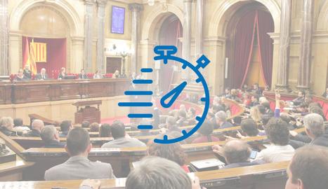 Vista general d'una sessió del Parlament, en la legislatura anterior.