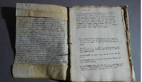 El volum del 'Llibre de Crims' de Lleida que s'ha restaurat.