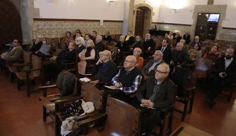 L'IEI va acollir ahir l'assemblea dels Amics de la Seu Vella.