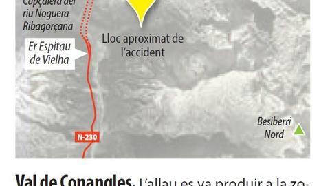 Dos morts i un ferit crític després de quedar atrapats per una allau a la Val d'Aran