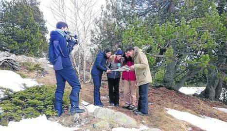 Els reporters de Lleida TV en l'enregistrament de l'últim capítol.