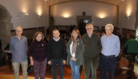 Participants ahir a l'IEI en l'acte inaugural del primer congrés sobre pedra seca a Lleida.