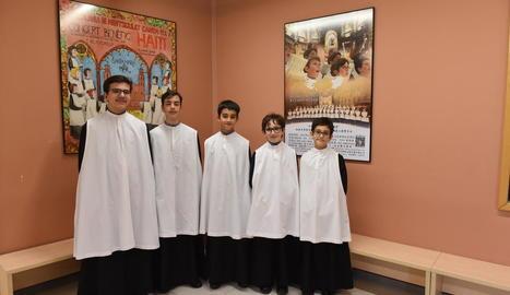 CINC de ponent. D'esquerra a dreta: Joan Maria, David, Ramon, Pau i Miquel. Són de Lleida i Tàrrega.