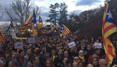 DIRECTE. Manifestació a Lleida contra la detenció de Puigdemont