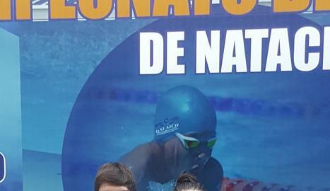 Paula Juste i José Vendrell, després de la primera jornada del Campionat.