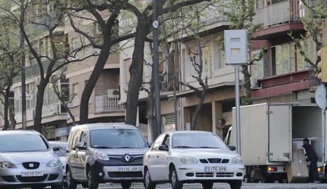 Un dels radars instal·lats a la ciutat de Lleida.