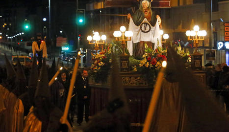 Un moment de la benedicció a l'església de Santa Teresa de Lleida.