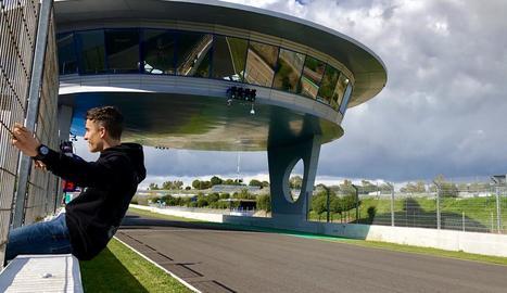 Entrenaments a porta tancada de Marc Màrquez a Jerez