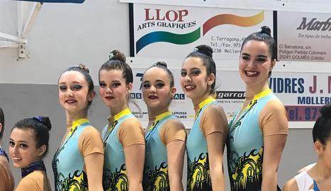 El trofeu Ciutat de Mollerussa de rítmica reuneix més de 400 gimnastes