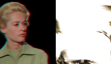 Tippi Hedren a 'Els ocells', muntatge que forma part de l'obra de videoart d'Albert Bayona.