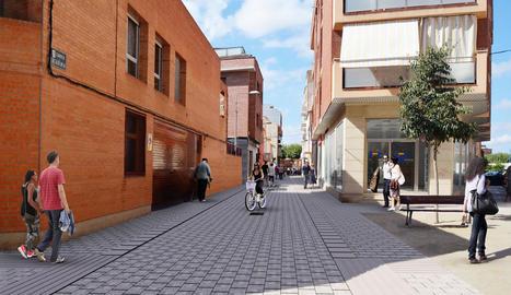 Imatge virtual de la reforma del carrer Acadèmia.