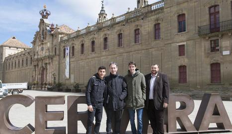 Marc Màrquez, Juli Alegre, Àlex Màrquez i Gerard Sabarich.