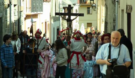 La processó de Bossòst, fita a la Setmana Santa aranesa.