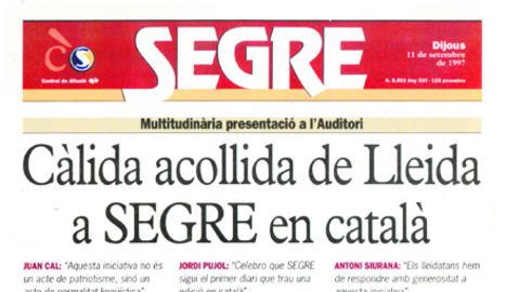 SEGRE s'estrena en català