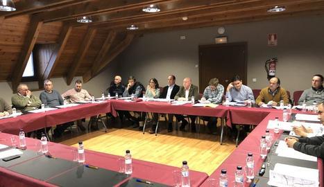 Reunió d'alcaldes aranesos i Conselh Generau d'Aran.